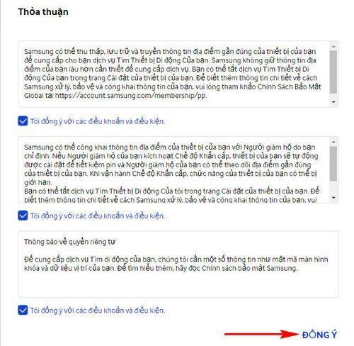 Hướng dẫn cách định vị điện thoại Samsung khi bị mất 3