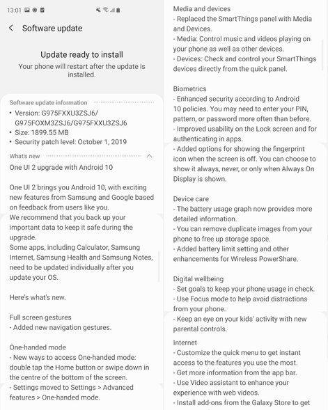 Trải nghiệm Android 10 trên Samsung Galaxy S10+