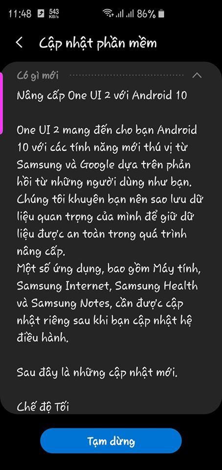 Galaxy S10 series tại Việt Nam bất ngờ lên đời Android 10, Samfans quẩy lên thôi!