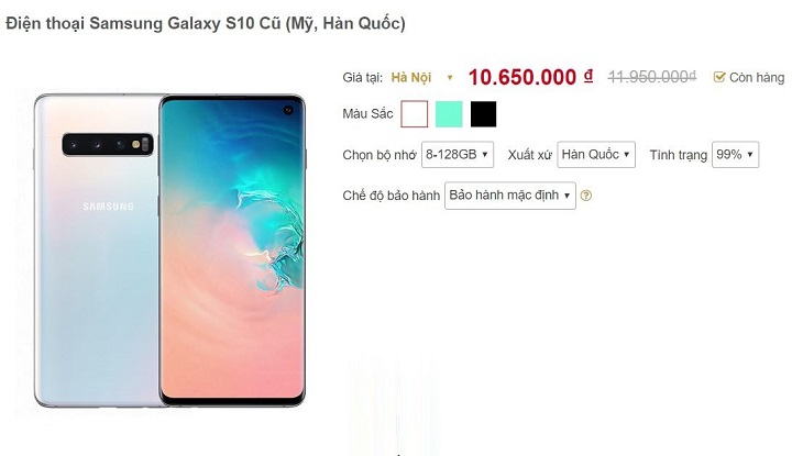 Sau nửa năm, Galaxy S10 đã qua sử dụng về giá 10 triệu đồng tại VN