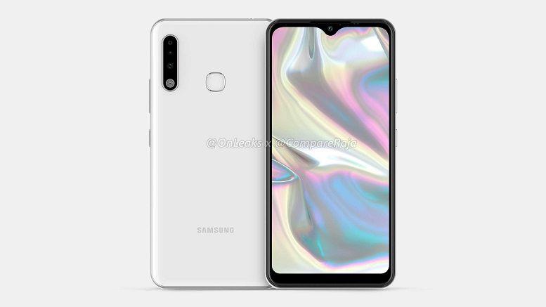 Galaxy A70e lộ ảnh render chi tiết: Viền siêu dầy, cổng microUSB, vân tay mặt lưng