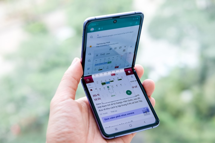 Mở hộp Galaxy Z Flip màn hình gập giá 36 triệu đồng