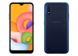 Samsung âm thầm ra mắt Galaxy A01: màn 5.7 inch, RAM 2GB, giá 2,79 triệu đồng