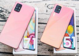 Mở hộp bộ đôi Galaxy A51 và Galaxy A71 phiên bản màu hồng