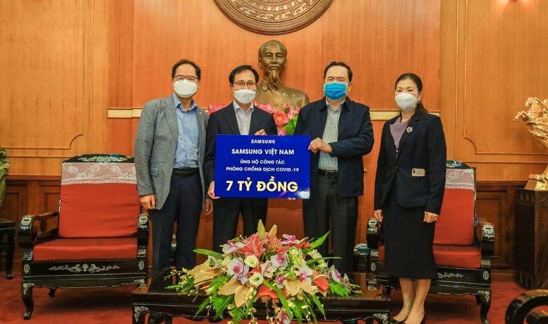 Samsung Việt Nam ủng hộ 10 tỷ chống dịch Covid-19