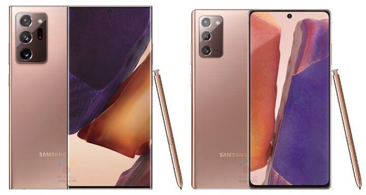 Galaxy Note20 và Note20 Ultra lộ diện loạt màu sắc cực bắt mắt