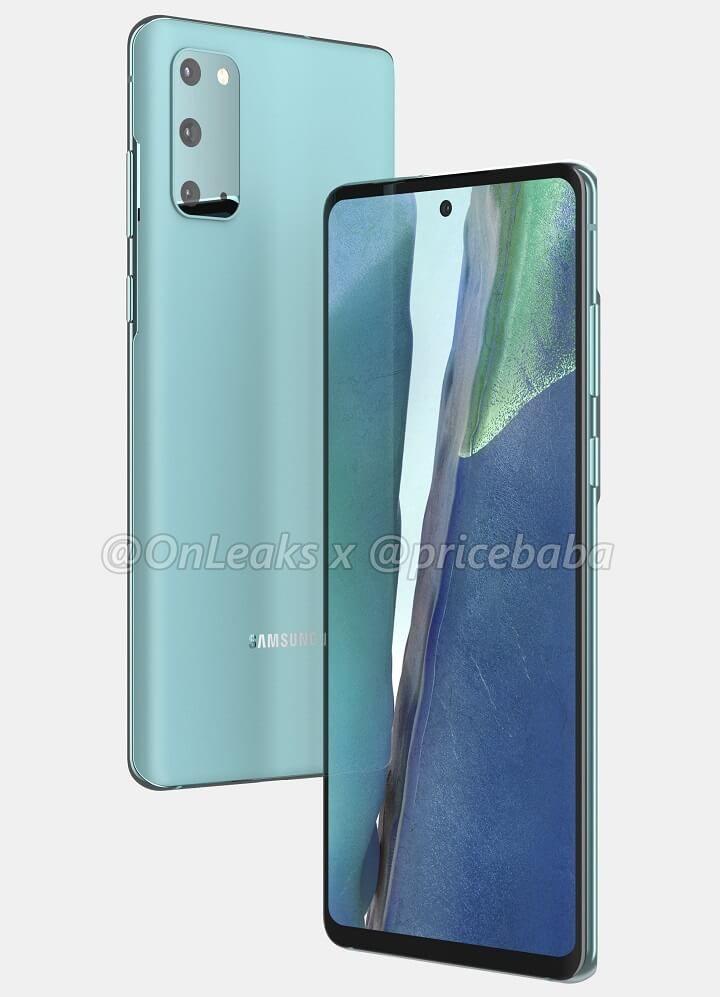 Galaxy S20 FE lộ ảnh render: Vỏ nhựa, chip Snapdragon 865, giá 17.5 triệu đồng