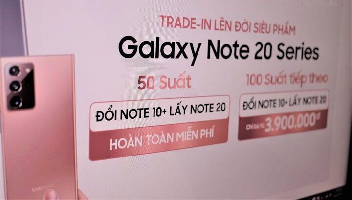 """Hệ thống bán lẻ """"chơi lớn"""": Đổi miễn phí Galaxy Note10+ lấy Note20"""