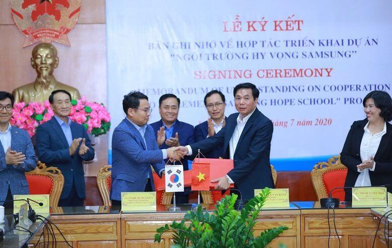 """Samsung tiếp tục xây dựng """"Trường học Hy vọng"""" thứ tư trị giá gần 20 tỷ đồng tại Lạng Sơn"""