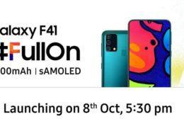 Samsung xác nhận Galaxy F41 có pin 6,000mAh, ra mắt ngày 8 tháng 10