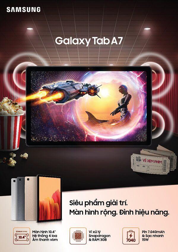 Samsung chính thức ra mắt máy tính bảng Galaxy Tab A7: Siêu phẩm giải trí đỉnh cao