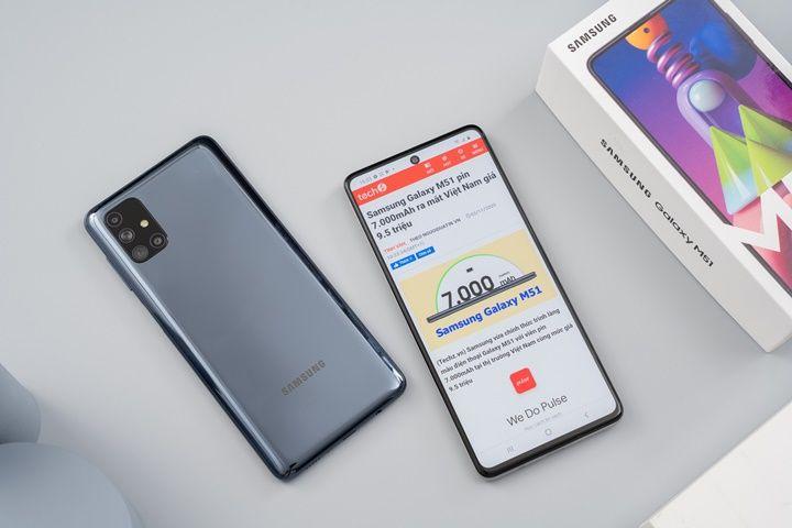 """Mở hộp Samsung Galaxy M51: """"Mãnh thú"""" với viên pin 7000mAh, hiệu năng tốt, camera 64MP"""