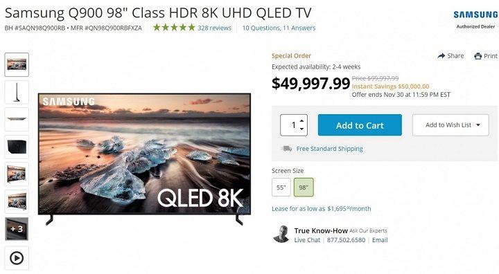 Samsung giảm giá 1 tỷ đồng cho mẫu TV 8K nhân dịp Black Friday