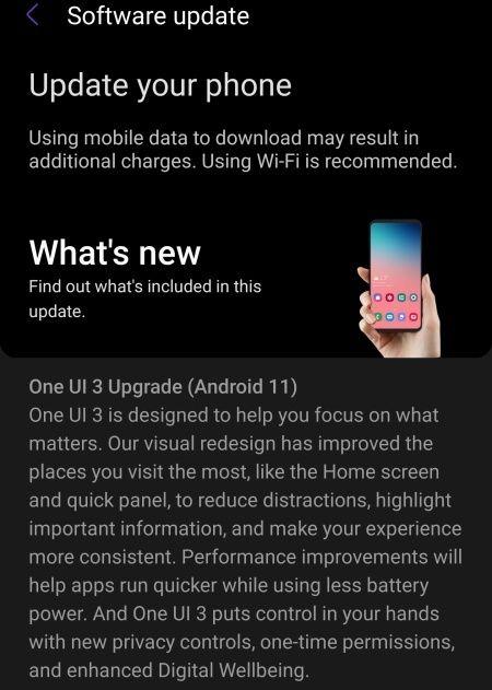 Galaxy S10 chính thức được cập nhật One UI 3.0 x Android 11