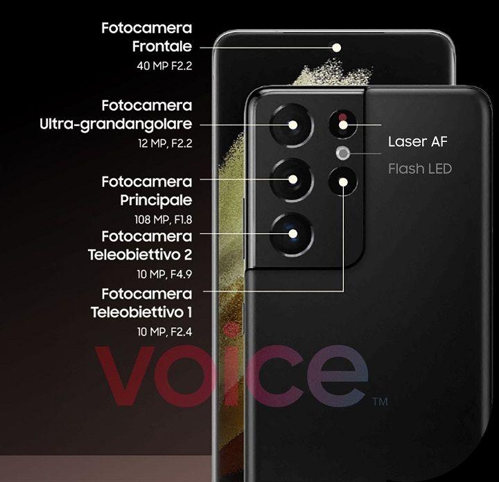 """Lộ thông số camera """"khủng"""" của Galaxy S21 Ultra"""