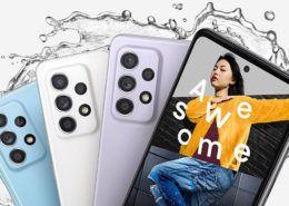 Tài liệu quảng cáo cho thấy sự khác biệt giữa Galaxy A52 và Galaxy A72