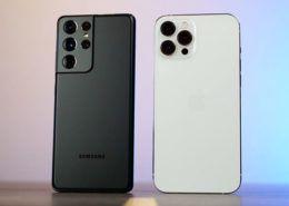 So sánh iPhone 12 Pro Max và Galaxy S21 Ultra