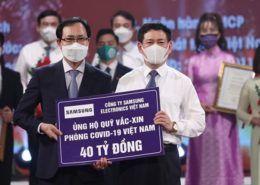 Samsung Việt Nam ủng hộ phòng chống Covid-19