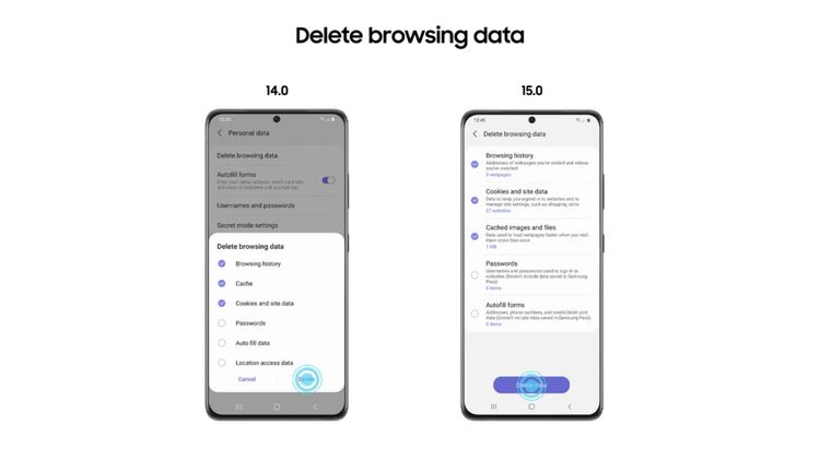 Samsung Internet 15.0 beta